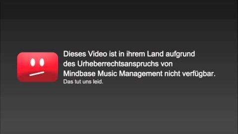 Youtube-Sperrtafeln im Sinne der Musikindustrie