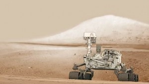 Curiosity bohrt in den Mars - Animation