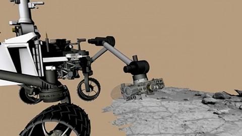 Nasa zeigt eine Bohrung auf dem Mars (Animation)
