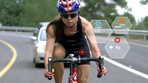 Fahrradhelm mit Pulsmesser aus der Militärtechnik