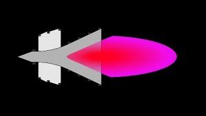 Rakete mit Fusionsantrieb - Animation