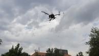 Tricopter im Flug - Uni Saarland