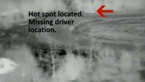 Verunglückter Autofahrer durch Drohnenflug gerettet