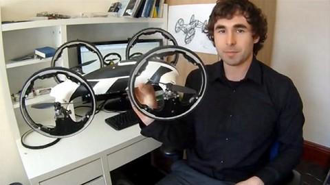 Quadrocopter mit Rädern