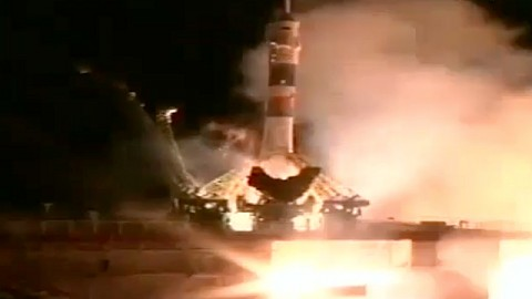 Start der Sojus TMA-09M am 29. Mai 2013
