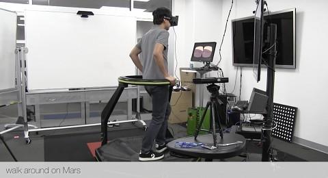Mit Oculus Rift und Virtuix Omni auf dem Mars spazieren