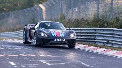 Porsche 918 Spyder auf der Nordschleife