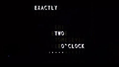 LED-Uhr formuliert die Zeit - Flowza (Kickstarter)