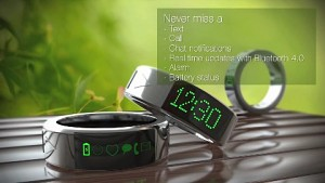 Smarty Ring mit Display und Bluetooth