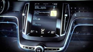 Volvo Concept Estate - Touchscreen im Cockpit