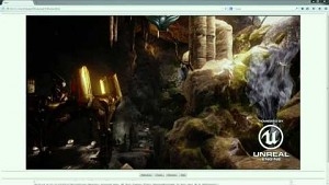 Unreal Engine 4 running in Firefox