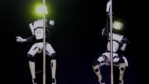 Tanzroboter auf der Cebit 2014 angesehen
