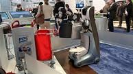 Roboter lernt, Papierkörbe zu leeren - Fraunhofer IPA