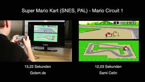Golem vs Weltrekord in Super Mario Kart (Time Trial)