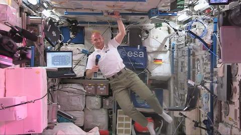 Astronaut Alexander Gerst an Bord der ISS
