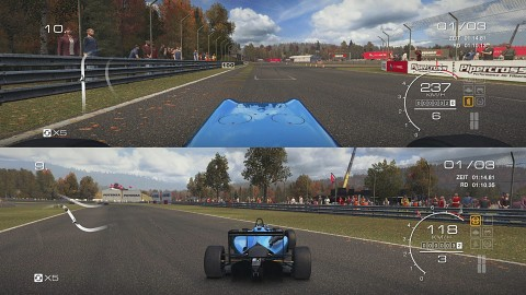Der Splitscreen-Modus in Grid Autosport - Gameplay