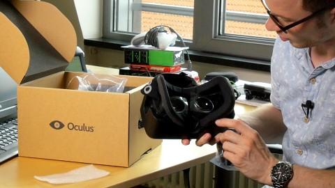 Oculus Rift DK2 - Unboxing - Video.Golem.de