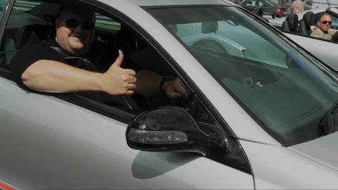 Kim Dotcom auf dem Nürburgring