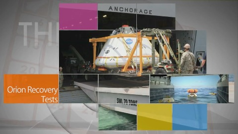 Vorbereitung auf Bergung des Orion-Raumschiffs