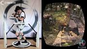 Cyberith Virtualizer mit YEI Technology PrioVR und Oculus Rift