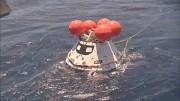 Simulation zur Bergung des Orion-Raumschiffs