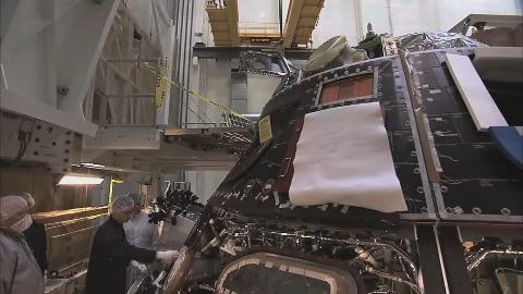 Hitzeschild des Orion-Raumschiffs