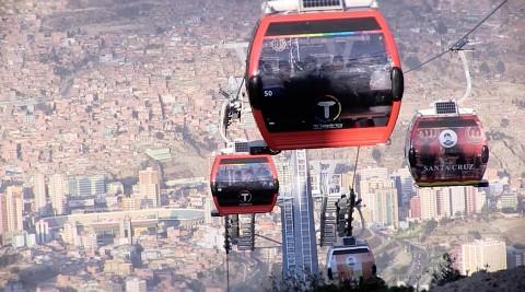 Längste urbane Seilbahn der Welt in Bolivien - Bericht