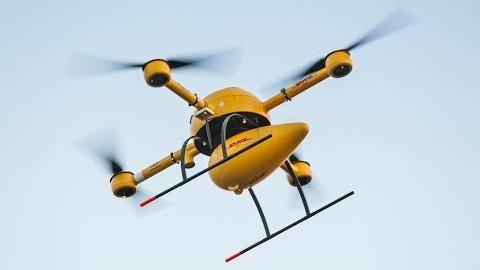 Paketkopter fliegt autonom nach Juist - Microdrones