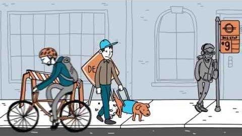 Sound-Leitsystem für Sehbehinderte