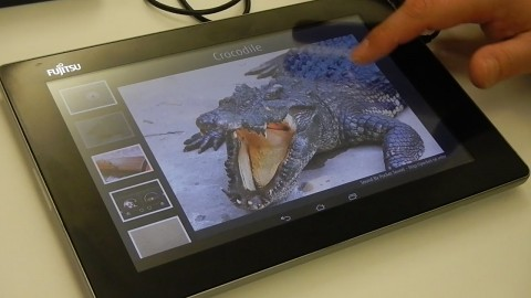 Fujitsu Haptic Display angeschaut