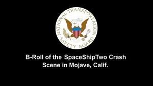Die Absturzstelle des Spaceship Two - NTSB