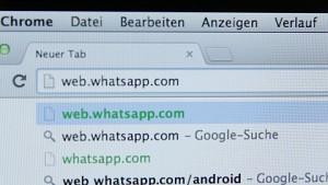 Whatsapp Webclient ausprobiert