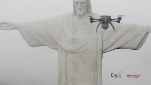 Drohne kartiert Cristo Redentor