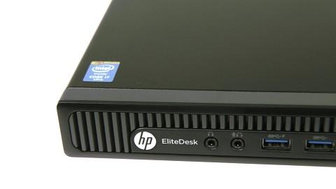 Anschlüsse und Innenleben des HP Elitedesk 800 Mini