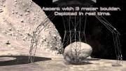 Raumschiff holt einen Fels von einem Asteroiden - Nasa