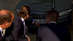 Alexander Dobrint testet pilotiertes Fahren (Audi)