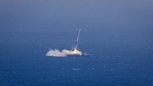 Bruchlandung der Rakete Falcon 9 - SpaceX