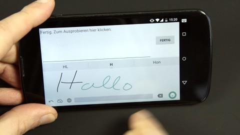 Google-Handschrifteingabe ausprobiert