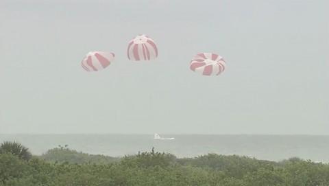 Testflug der Raumfähre Dragon - Nasa