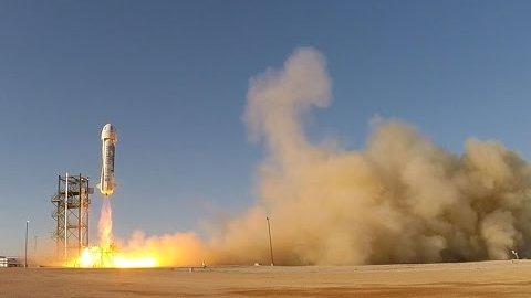 Testflug des Raumfahrzeugs New Shepard - Blue Origin