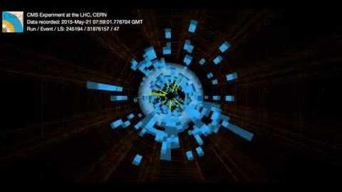 Kollision mit 13 TeV im CMS - Cern