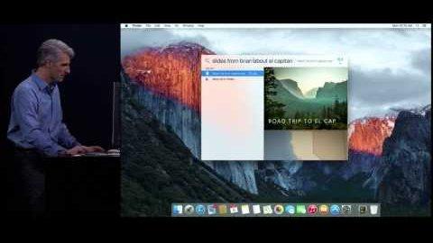 MacOS X 10.11 El Capitan - Live-Demo (WWDC 2015)