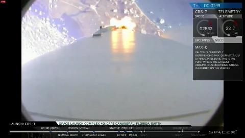 SpaceX - Raumfähre Dragon explodiert nach dem Start