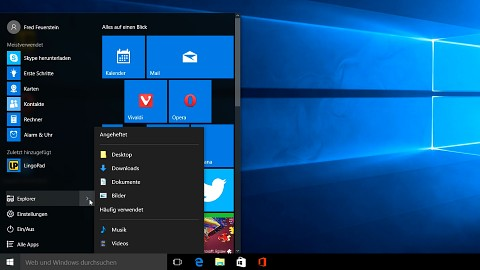 Neue Funktionen in Windows 10 ausprobiert
