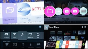 Smart-TV-Oberflächen - Vergleichstest