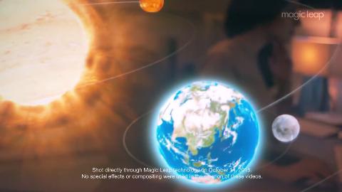 Magic Leap - Demo (kleiner Roboter und Sonnensystem)