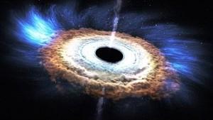 Schwarzes Loch verschlingt Stern - Nasa