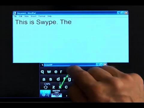 Swype - revolutionäre Methode zur Texteingabe