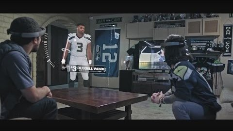 Microsoft Hololens - NFL in Augmented-Reality-Trailer