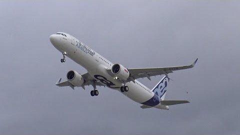 Airbus A321NEO - erster Start (Herstellervideo)